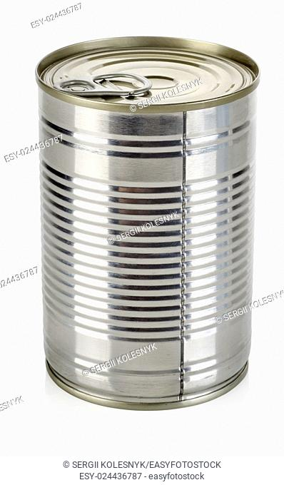 Canned food for animals isolated on a white background