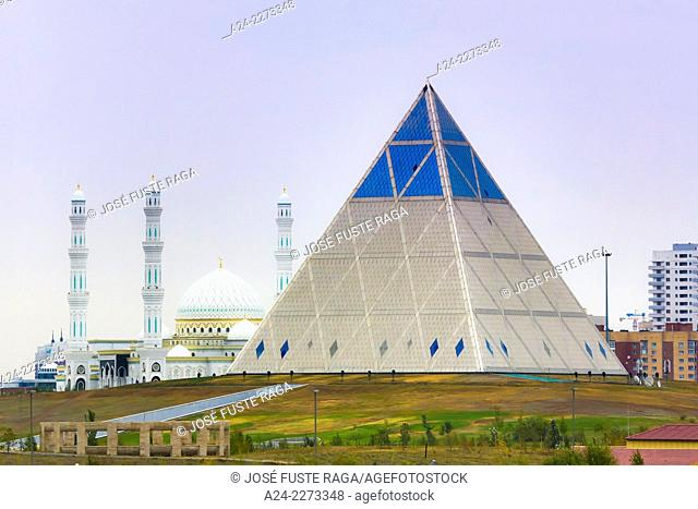 Kazakhstan, Astana City, New Administrative City,Palace of Peace and Accord (Pyramid) , Foster Architect