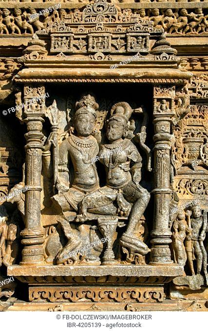 Erotic Relief, Torana Sculptures in Sas Bahu Temple, Temple District of Nagda, Hindu Temple, Eklingji, Rajasthan, India