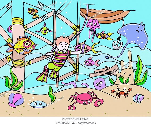 Child Goes Scuba Diving
