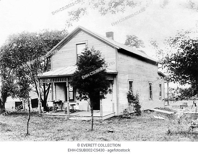 President Warren Harding's birthplace in Blooming Grove, Ohio. Ca. 1880. (CSU-2015-11-1471)