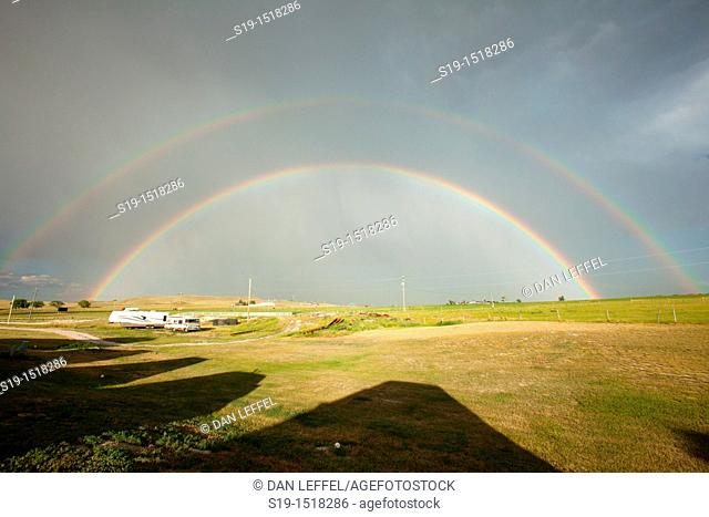 Double Rainbow after Storm