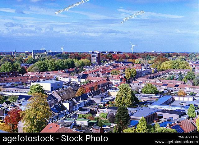 Tilburg, Netherlands. View on Tilburg North from Spoorpark Tower,