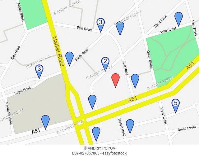 GPS Map Mockup