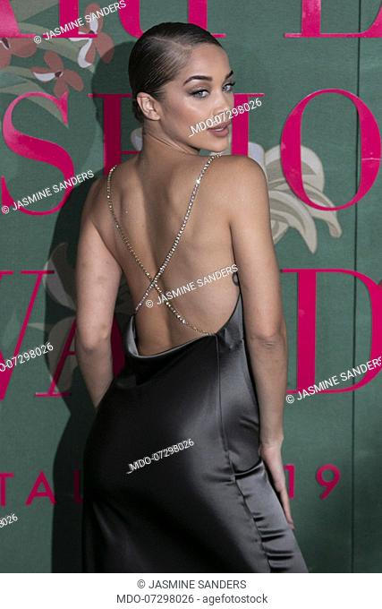 Jasmine Sanders on the Red carpet of the Green carpet Fashion Awards event at the Teatro alla Scala. Milan (Italy), September 22nd, 2019