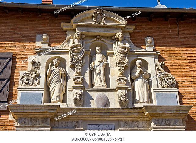 France, Toulouse, Saint Peter Church, sculptures