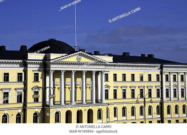 europe, finland, helsinki, senate square, palace of the state council