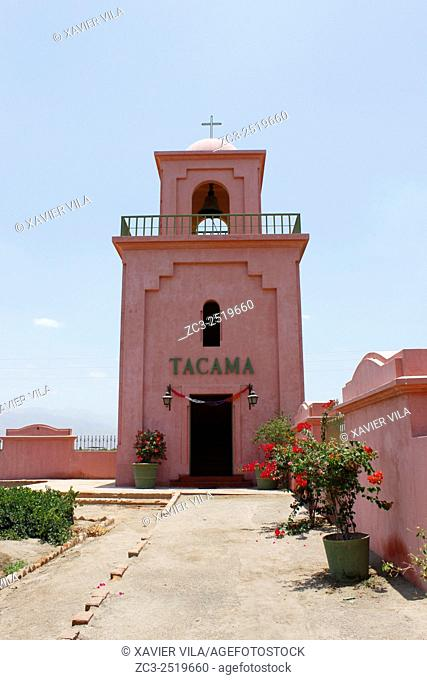 Church of Tacama inside the vineyard. In the decade of the 1540 s Francisco de Carabantes created The Tacama Vineyard, which is the oldest in Peru