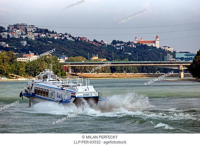 Vostok ship on the Danube, Bratislava, Slovakia