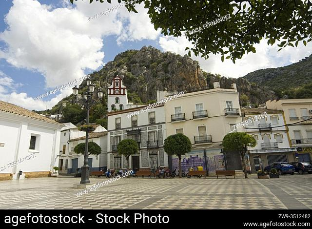 Main square of Ubrique, Grazalema Range, province of Cadiz, Andalucia, Spain