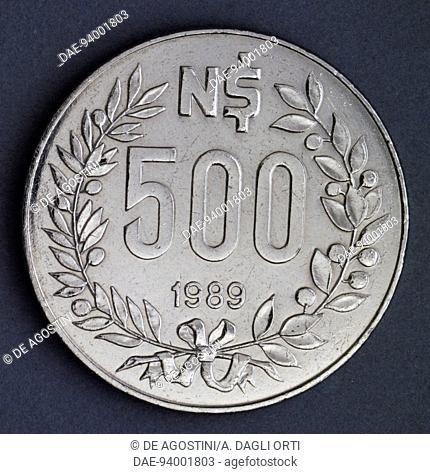 5-500 nuevos pesos 1989 Uruguay set of 6 coins