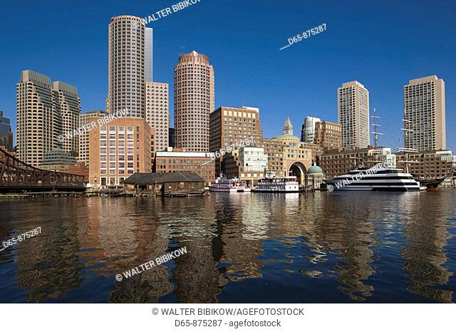 Rowes Wharf in the morning, Boston, Massachusetts, USA