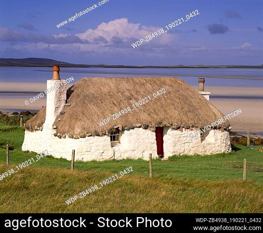 Scotland, Western Isles, North Uist, Malacleit. Croft House