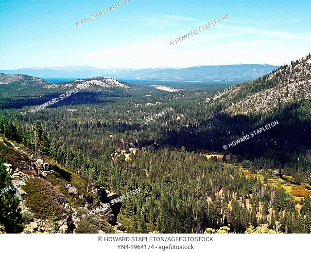 El Dorado National Forest and Lake Tahoe in the distance
