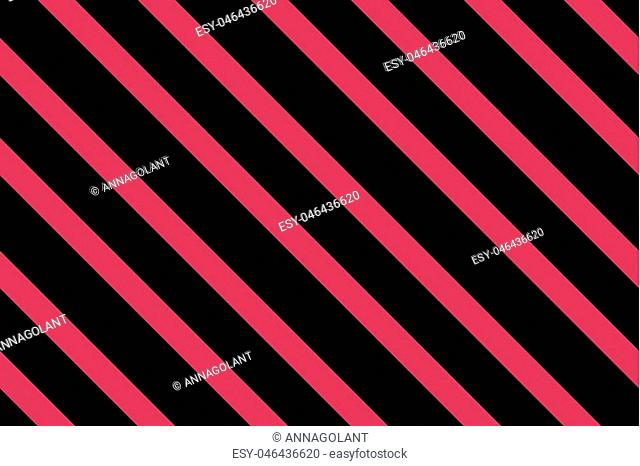 Traditional seamless pattern with slanted, diagonal lines, stripes. Black and pink. Vector illustration