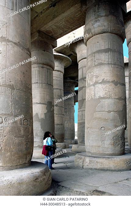 Ramesseum Luxor Egypt: Ramesseum : the funeral temple of pharaoh Ramses II the Great(1303-1213 b.C. XIX° dyn.The hypostyle hall
