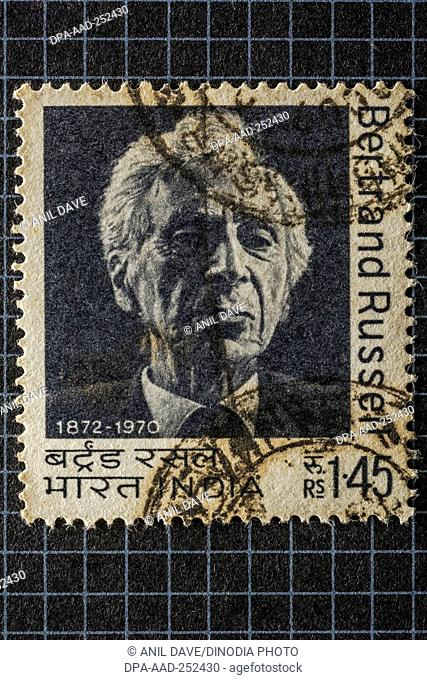 Bertrand russell, postage stamps, india, asia