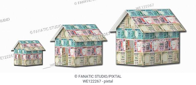 Illustrative representation showing rise in housing loan