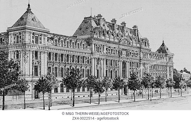 Famous Ecole des Arts et Metiers de Lille, Picture from the French weekly newspaper l'Illustration, 13th October 1900