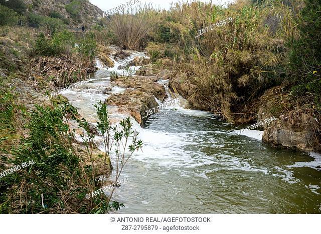 River Sellent, Chella, Canal de Navarrés, Valencia province, Comunidad Valenciana, Spain