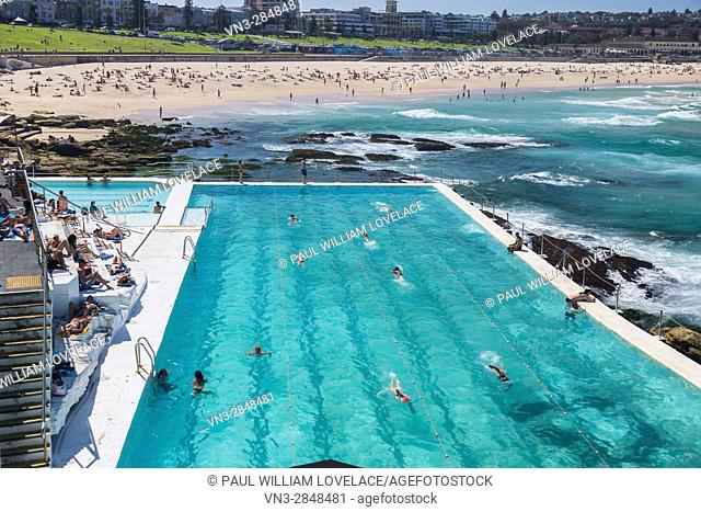 A beautiful autumn day at Bondi Icebergs, Bondi Beach, Sydney, Australia