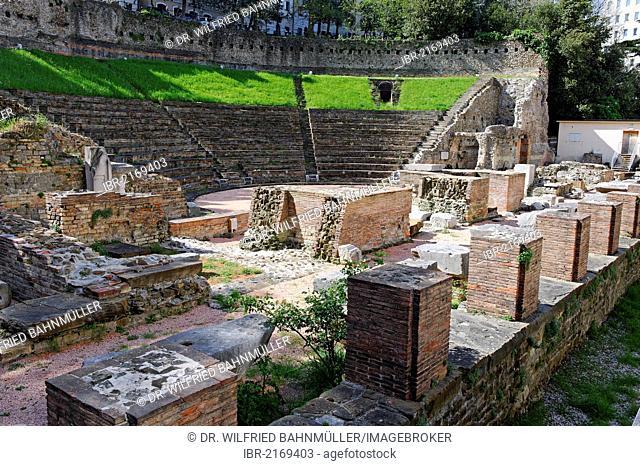 Roman theatre, Teatro Romano, Trieste, Italy, Europe