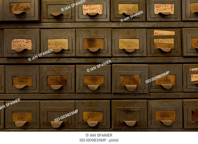 Labelled drawers