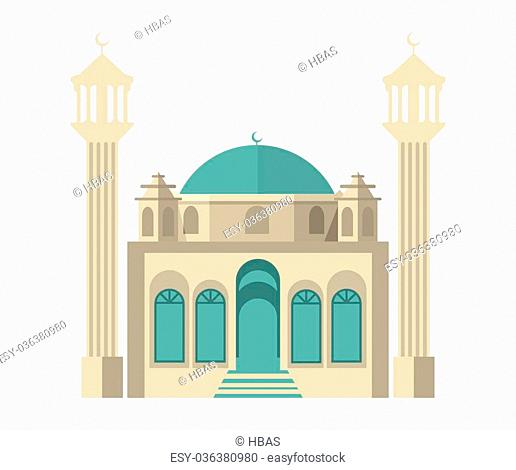Vector colored mosque