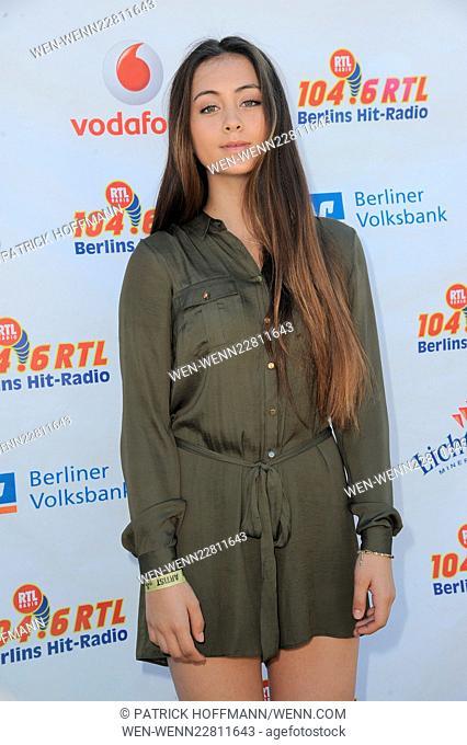 Stars For Free 2015 by Berlin radio station 104.6 RTL at Wuhlheide amphitheater - Press Room Featuring: Jasmine Thompson Where: Berlin