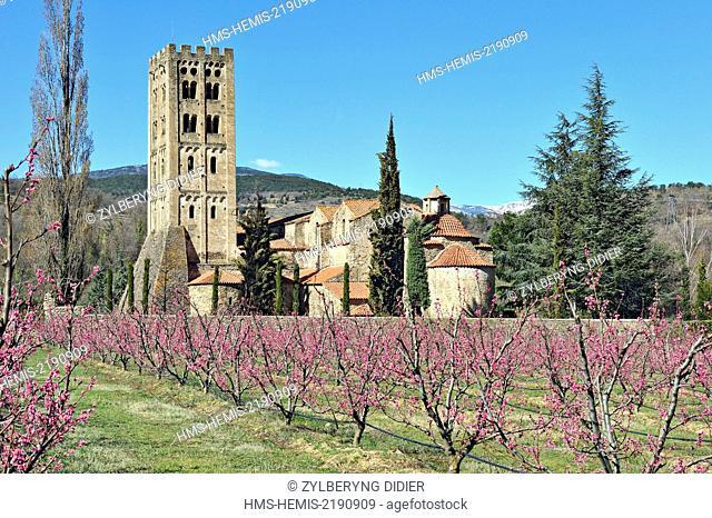 France, Pyrenees Orientales, Codalet, Saint Michel de Cuxa abbey