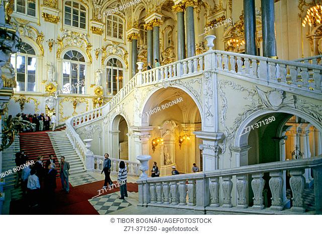 Hermitage Museum, Grand Staircase. St. Petersburg. Russia