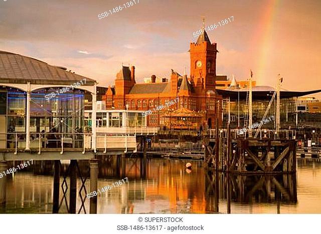 Pierhead Building in Cardiff Bay, Wales, United Kingdom, Great Britain, Europe