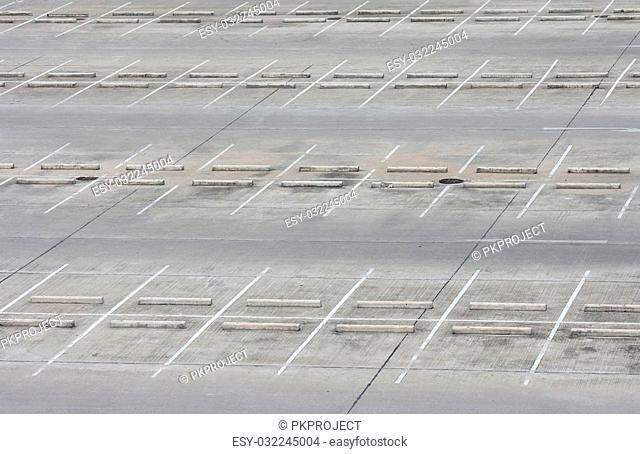 Empty outdoor car park - empty parking lots