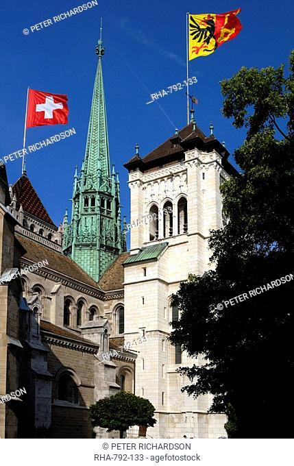 St. Pierre Cathedral, old town, Geneva, Switzerland, Europe