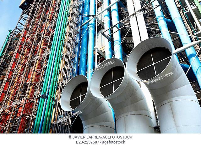 Centre George Pompidou. Musee National d'Art Moderne. Paris. France