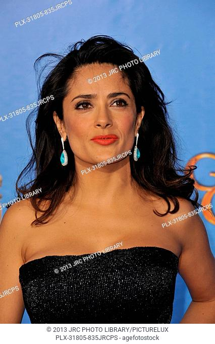 Salma Hayek at the 70th Golden Globe Awards at the Beverly Hilton Hotel. January 13, 2013 Beverly Hills, CA Photo by JRC / PictureLux