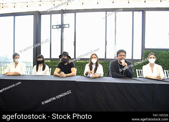 MEXICO CITY, MEXICO - OCTOBER 26: Actress, Vita Vargas, Sayaka Yokoyama, Alex Crusa, Carla Hernández, Gibran Bazan, Myriam Behar