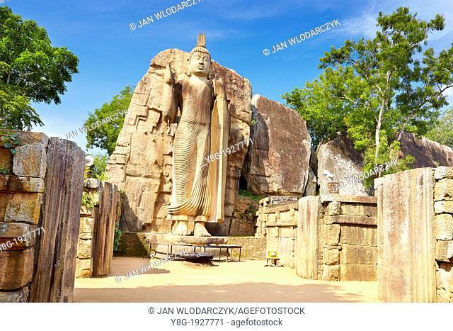 Sri Lanka - Buddha Aukana Statue, Anuradhapura, historic capital of Sri Lanka, UNESCO World Heritage Site