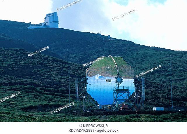 Observatories Roque de los Muchachos La Palma Canary Islands Spain national park de la Caldera de Taburiente observatory
