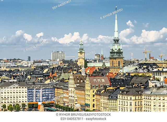 Scenic Summer View Of Old Town In Stockholm, Sweden