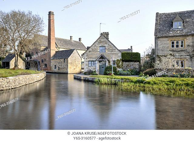 Lower Slaughter, Cotswold, Gloucestershire, England, UK