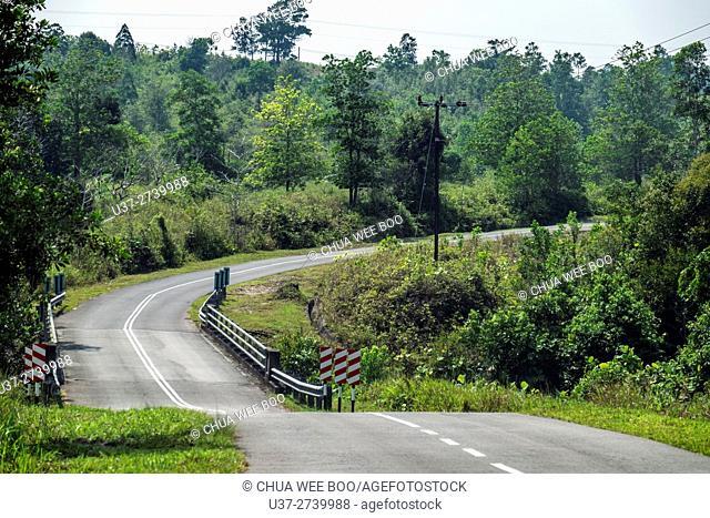 Kuching-Matang road, Sarawak, Malaysia