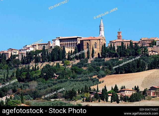 The medieval town of Pienza