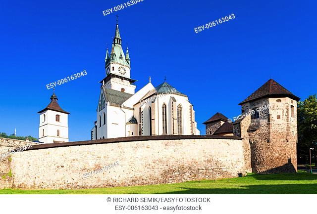 castle and church of Saint Catherine, Kremnica, Slovakia