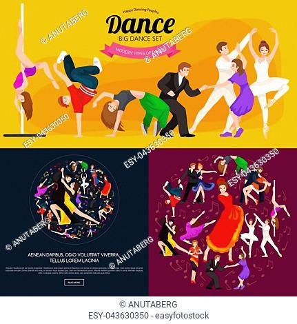 Dancing People, Dancer Bachata, Hiphop, Salsa, Indian, Ballet, Strip, Rock and Roll, Break, Flamenco, Tango, Contemporary