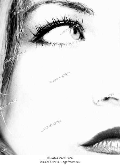 Close up of a woman's face