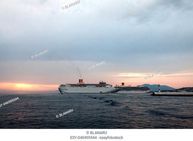 Seaside landscape in Mykonos