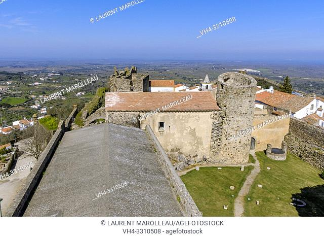 View of castle of Castelo de Vide from the keep, Portalegre District, Alentejo Region, Portugal