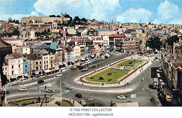 'City Centre, Bristol', c1940s. From Six Latest Views of Bristol. [Harvey Barton, Aberdeen and Bristol]