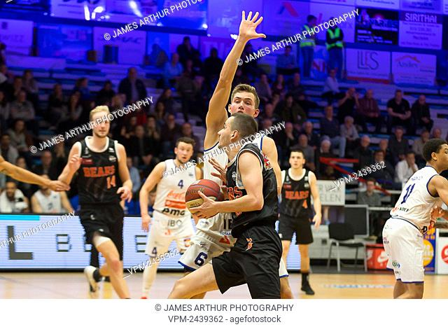 Leuven's Joris Fauconnier pictured in action during the basketball match between Kangoeroes Mechelen vs Leuven Bears, Friday 06 December 2019 in Mechelen
